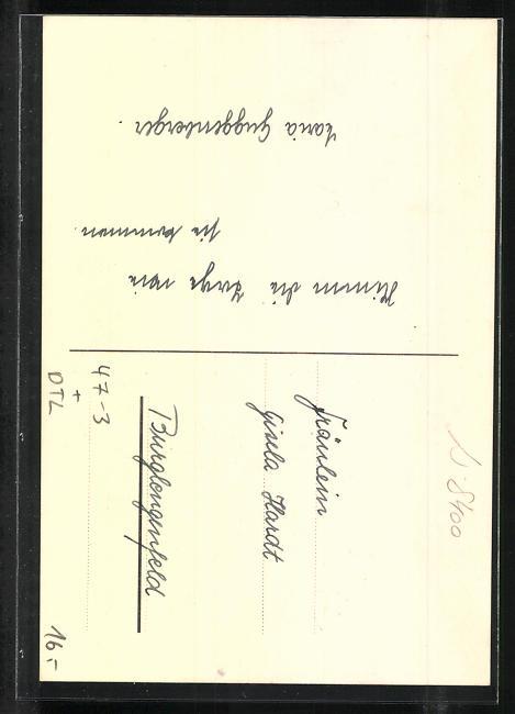 AK Regensburg, Absolvia 1938, 5. Lyzeal-Klasse, Englisches Institut 1