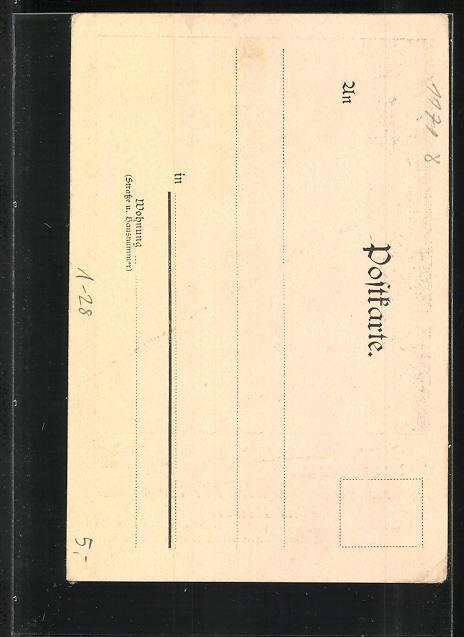 AK Fürst Bismarck auf dem Totenbett, Porträt Kaiser Wilhelm I. 1