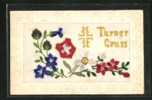 Seidenstick-AK Turner Gruss, Blumen
