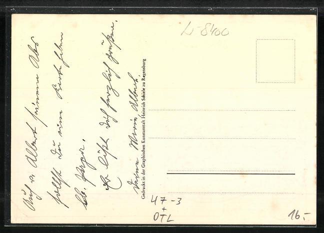 AK Regensburg, Absolvia minor 1914, Oberrealschule u. Wappen, Unterschriften der Schüler 1