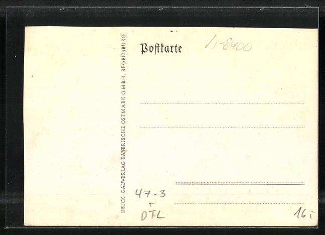 AK Regensburg, Absolvia 1935, Oberrealschule u. Wappen, Unterschriften der Schüler 1