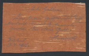 Holz-AK Postkarte aus Holz mit Bemalung