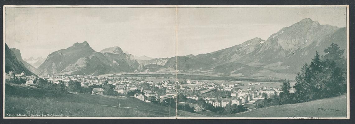 Klapp-AK Bad Reichenhall, Ortsansicht mit Bergen 0