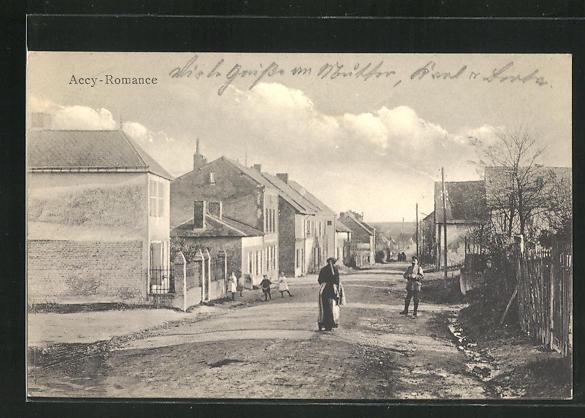 AK Arcy, Strassenpartie im Dorf 0