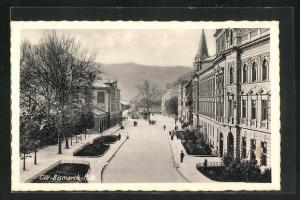 AK Celje / Cilli, Strassenpartie am Bismarck-Platz