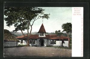 AK Moschi, Blick auf die Kirche