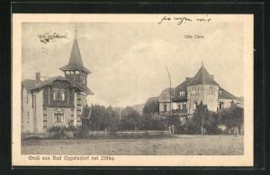 AK Bad Oppelsdorf, Villa Clara und Villa Adlerhorst