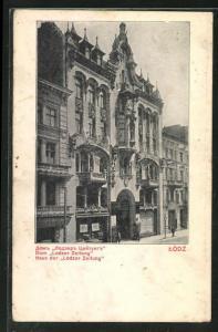 AK Litzmannstadt-Lodz, Haus der Lodzer Zeitung