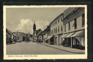 AK Leibnitz, Geschäfte am -Platz