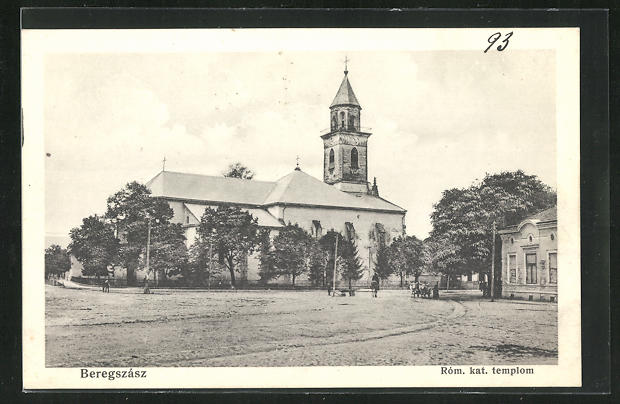 AK Beregszasz, Blick zur röm. kathol. Kirche 0
