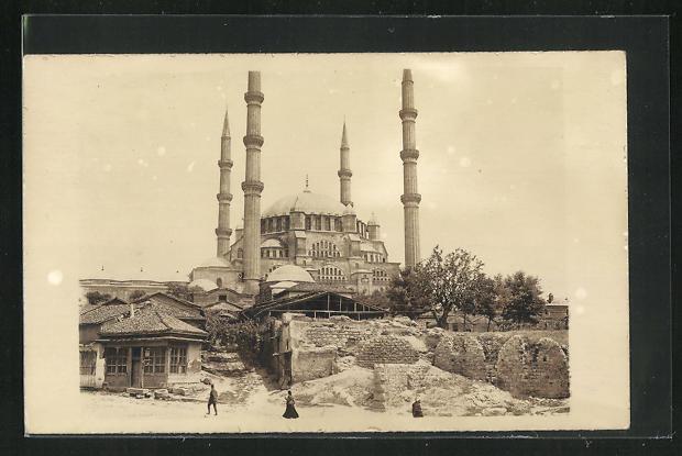 AK Edirne, Blick zur Moschee 0
