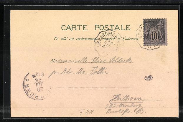 Lithographie Cole de la Schlucht, Hotel Defranoux, Route de la Schlucht, Chalet Hermann 1