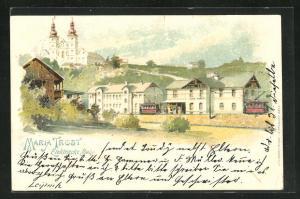 Lithographie Graz, Maria Trost, Elektrische Bahn