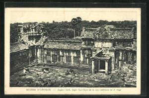 AK Angkor, Angle Sud-Quest de la cour interieure du 2 étage