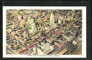 AK Toronto, CA, Aerial View of Downtown