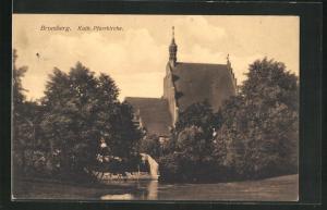 AK Bromberg / Bydgoszcz, Kath. Pfarrkirche