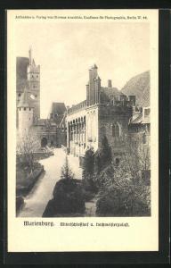 AK Marienburg / Malbork, Mittelschlosshof & Hochmeisterpalast