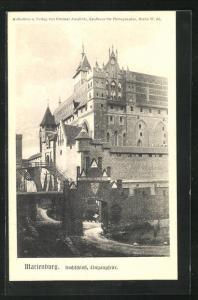AK Marienburg / Malbork, Hochschloss, Eingangseite