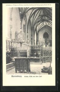 AK Marienburg / Malbork, Kirche, Blick aus dem Chor