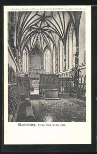 AK Marienburg / Malbork, Kirche, Blick in den Chor