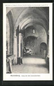 AK Marienburg / Malbork, Gang vor dem Conventsremter