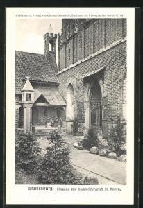 AK Marienburg / Malbork, Eingang zur Hochmeistergruft St. Annen