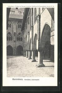 AK Marienburg / Malbork, Kreuzhof, Säulenhalle