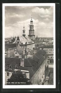 AK Posen / Poznan, Blick auf das Rathaus