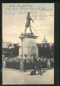 AK Colmar, Partie am Rapp-Denkmal