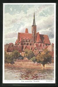 Künstler-AK Breslau, Blick auf die Kreuzkirche
