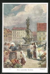 Künstler-AK Breslau, Neumarkt
