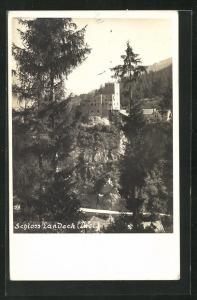 AK Landeck, Blick zum Schloss