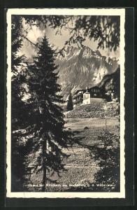 AK Mühlbach, Gasthaus Rupertihaus gegen die Wetterwand