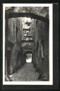 AK Villach, Gasse in der Altstadt