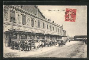 AK Marseille, La Gare, Bahnhof