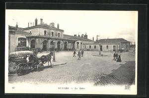 AK Nevers, La Gare, Bahnhof