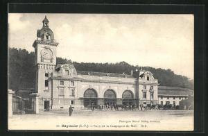 AK Bayonne, Gare de la Compagnie du Midi, Bahnhof