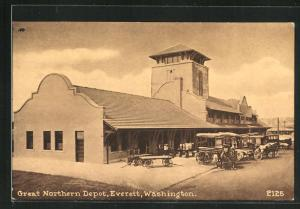 AK Everett, WI, Great Northern Depot