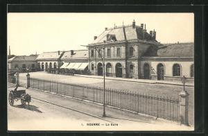 AK Roanne, La Gare, Bahnhof