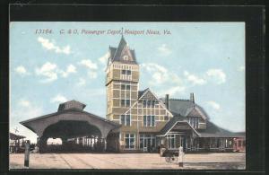 AK Newport News, VA, C. & O. Passenger Depot, Bahnhof
