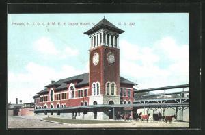 AK Newark, NJ, N.J.D.L. & W.R.R. Depot, Bahnhof