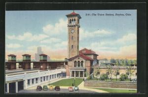 AK Dayton, OH, The Union Station, Bahnhof