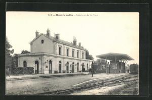 AK Romorantin, Interieur de la Gare, Bahnhof