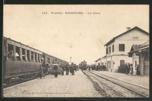 AK Tonkin-Haiduong, La Gare, Bahnhof