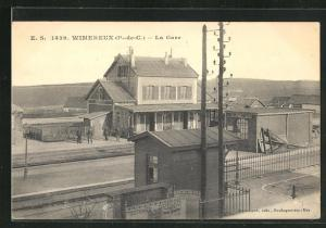 AK Wimereux, La Gare, Bahnhof