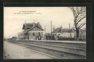 AK Le Theil-sur-Huisne, La Gare, Bahnhof