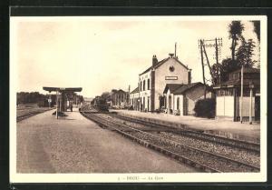 AK Brou, La Gare, Bahnhof