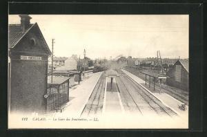 AK Calais, La Gare des Fontinettes, Bahnhof