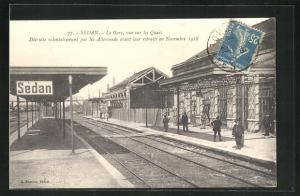 AK Sedan, La Gare, Bahnhof