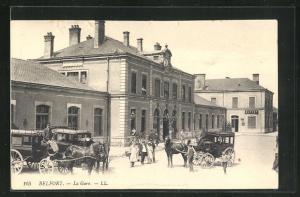 AK Belfort, La Gare, Bahnhof